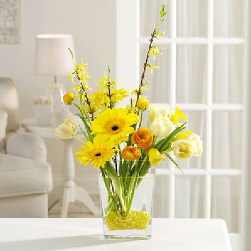 pop of color yellow flowers home decor emmanueldagherofficial