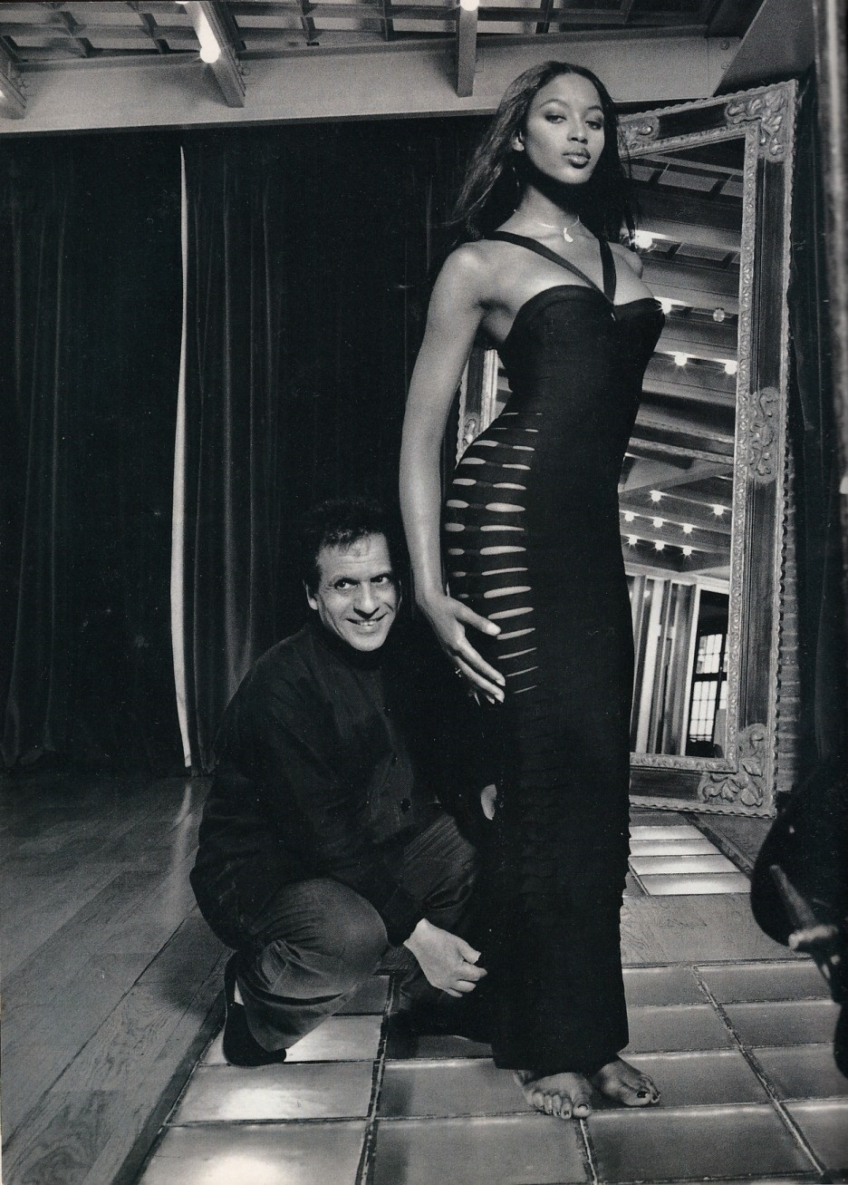 Azzedine Alaia and Naomi Campbell