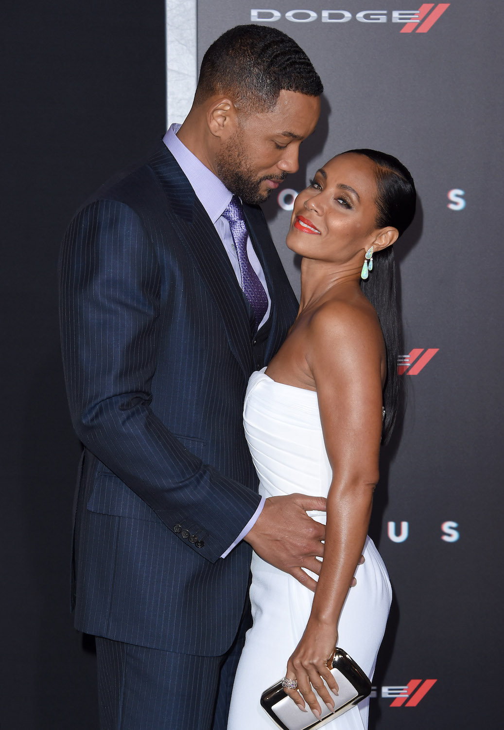 HOLLYWOOD, CA - FEBRUARY 24: Actors Will Smith and Jada Pinkett Smith arrive at the Los Angeles World Premiere of Warner Bros. Pictures 'Focus' at TCL Chinese Theatre on February 24, 2015 in Hollywood, California. (Photo by Axelle/Bauer-Griffin/FilmMagic)