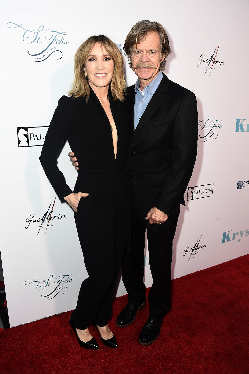 "HOLLYWOOD, CA - APRIL 05: (L-R) Felicity Huffman, William Macy attend the Premiere Of Netflix's ""Krystal"" at ArcLight Hollywood on April 5, 2018 in Hollywood, California. (Photo by Frazer Harrison/Getty Images)"