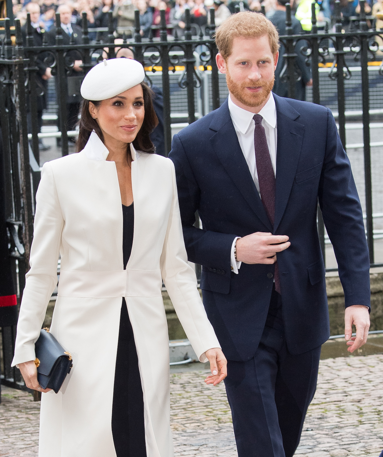 LONDON, ENGLAND - MARCH 12: Meghan Markle and Prince Harry attend the 2018 Commonwealth Day service at Westminster Abbey on March 12, 2018 in London, England. (Photo by Samir Hussein/Samir Hussein/WireImage)