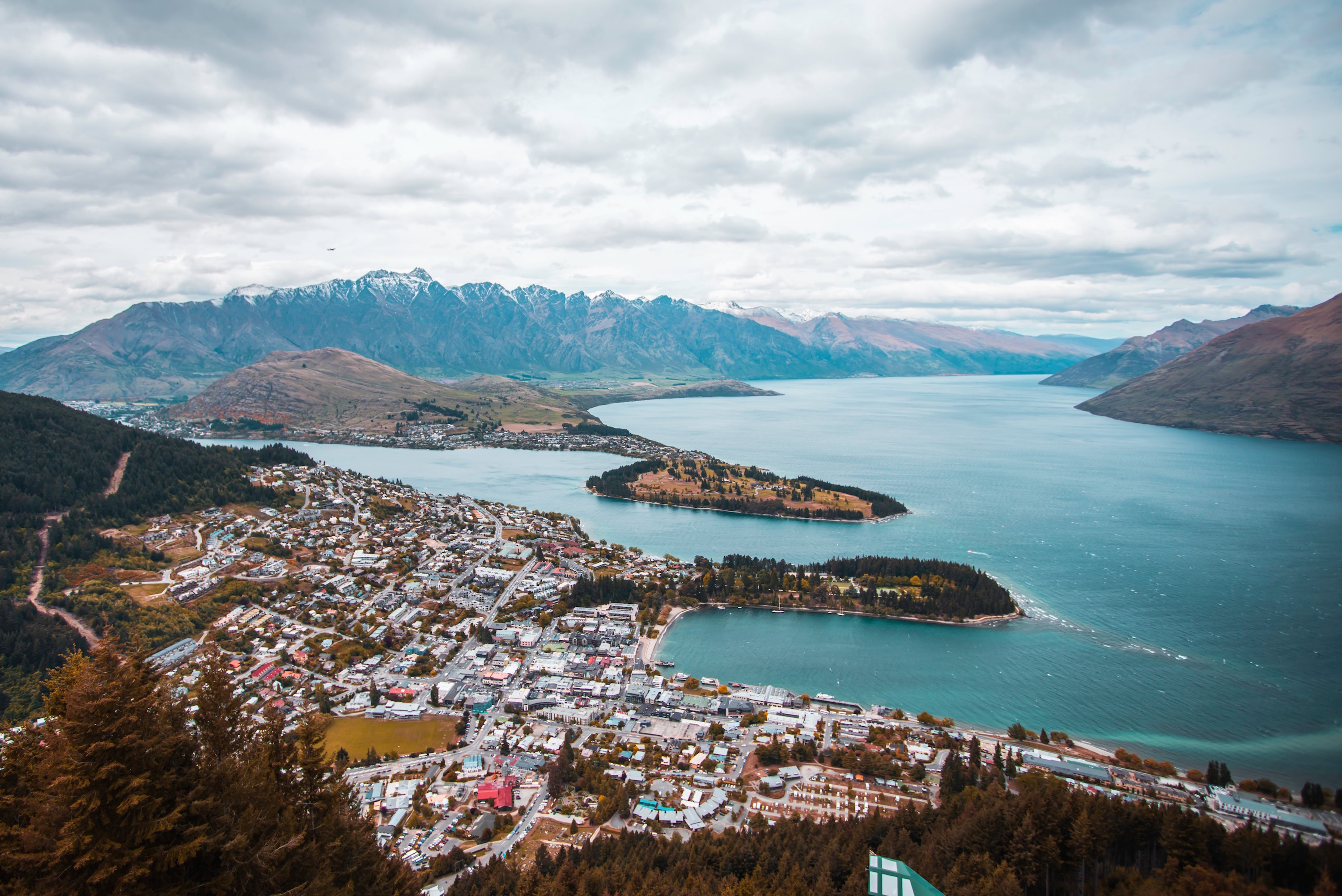 aerial view of queenstown new zealand michael amadeus unsplash