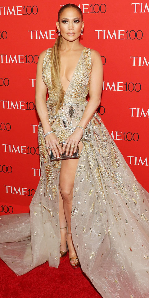 NEW YORK, NY - APRIL 24: Jennifer Lopez attends the 2018 Time 100 Gala at Frederick P. Rose Hall, Jazz at Lincoln Center on April 24, 2018 in New York City. (Photo by Taylor Hill/FilmMagic)