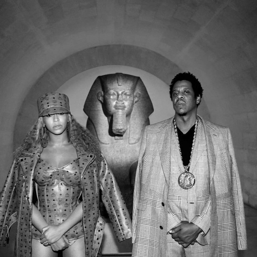 Beyonce and Jay-Z Sphinx Louvre