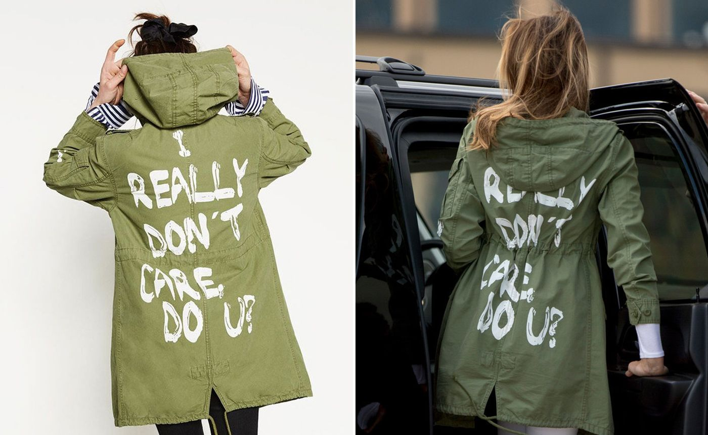 Melania Trump Zara jacket