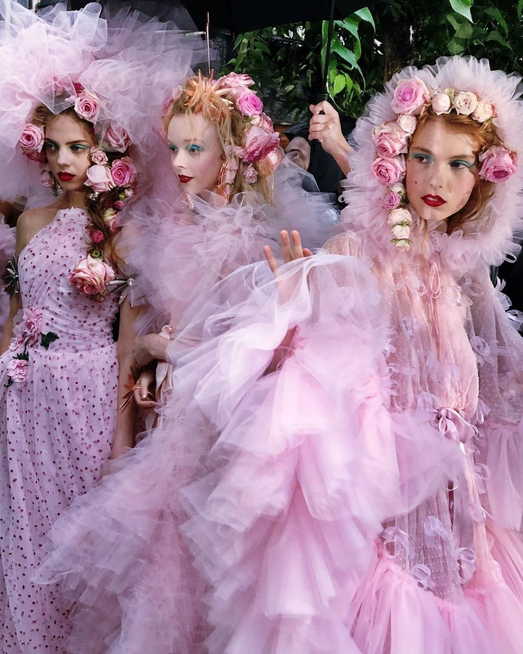 Beauty Looks at NYFW or Living Works of Art?