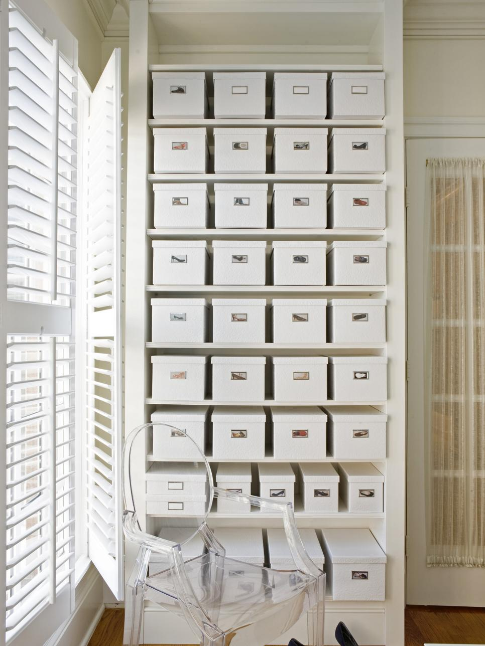 Shoe box storage ideas