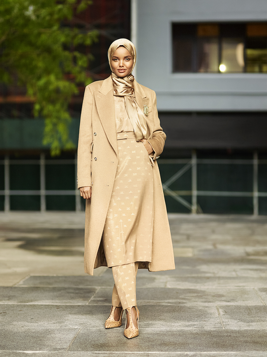 Editorial image of Halima wearing the capsule collection