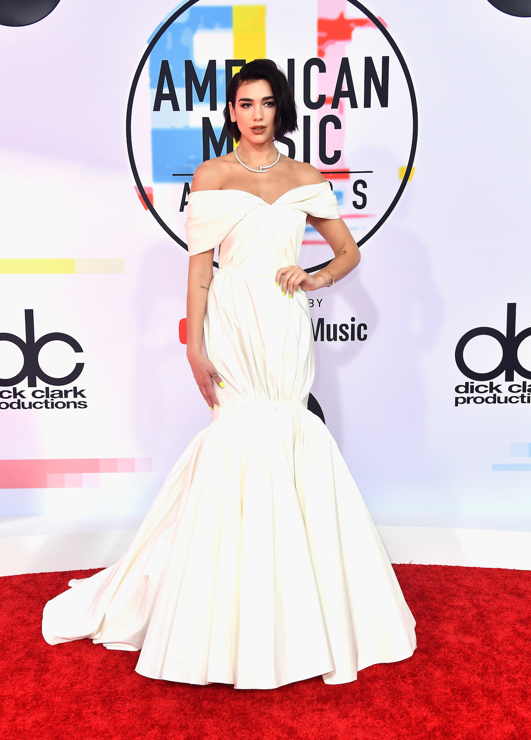 Dua Lipa attends the 2018 American Music Awards at Microsoft Theater on October 9, 2018 in Los Angeles, California.
