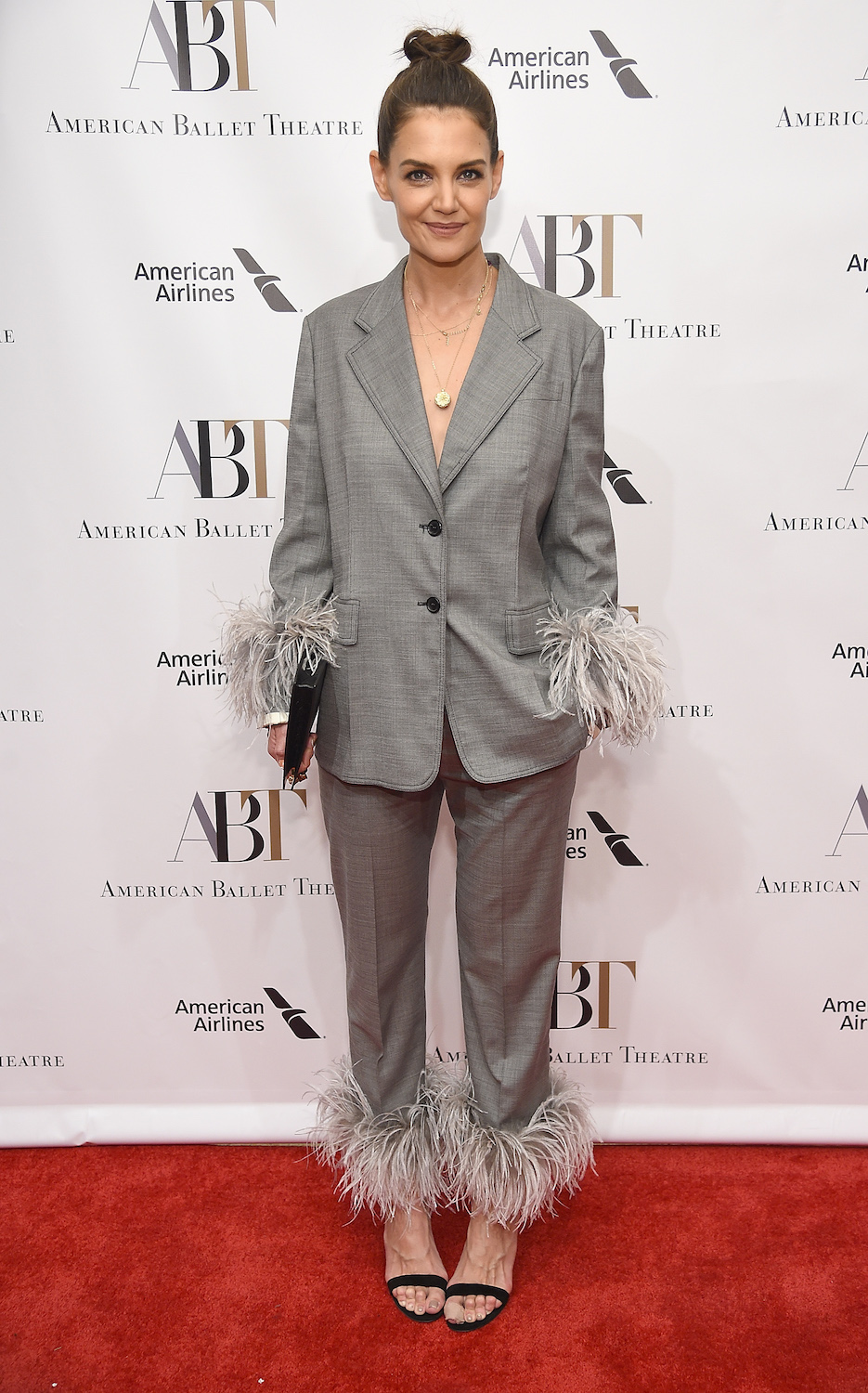Katie Holmes; at David H. Koch Theater, Lincoln Center on October 17, 2018 in New York City.