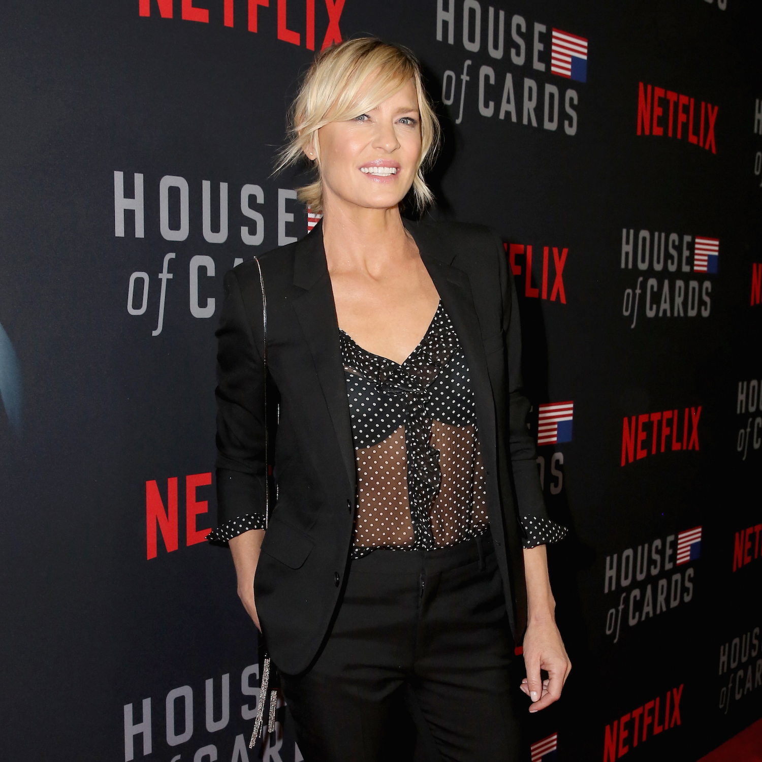 "LOS ANGELES, CA - OCTOBER 22: Robin Wright attends ""House of Cards"" Season 6 World Premiere on October 22, 2018 in Los Angeles, California. (Photo by Rachel Murray/Getty Images for Netflix)"