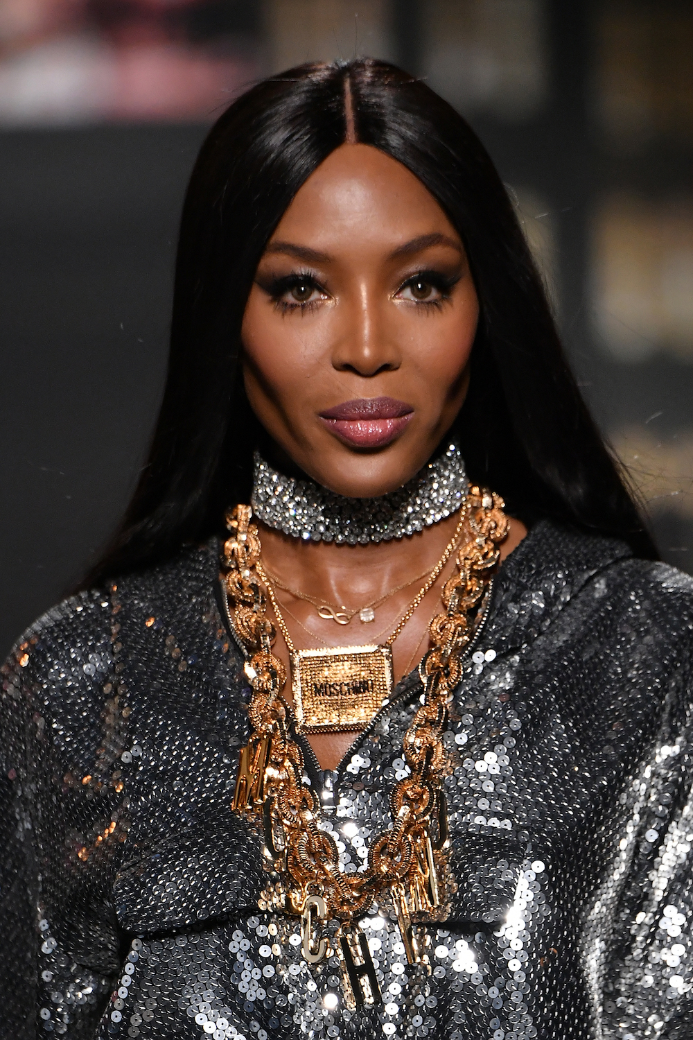 Naomi Campbell attends the Moschino x H&M - Runway at Pier 36 on October 24, 2018 in New York City.