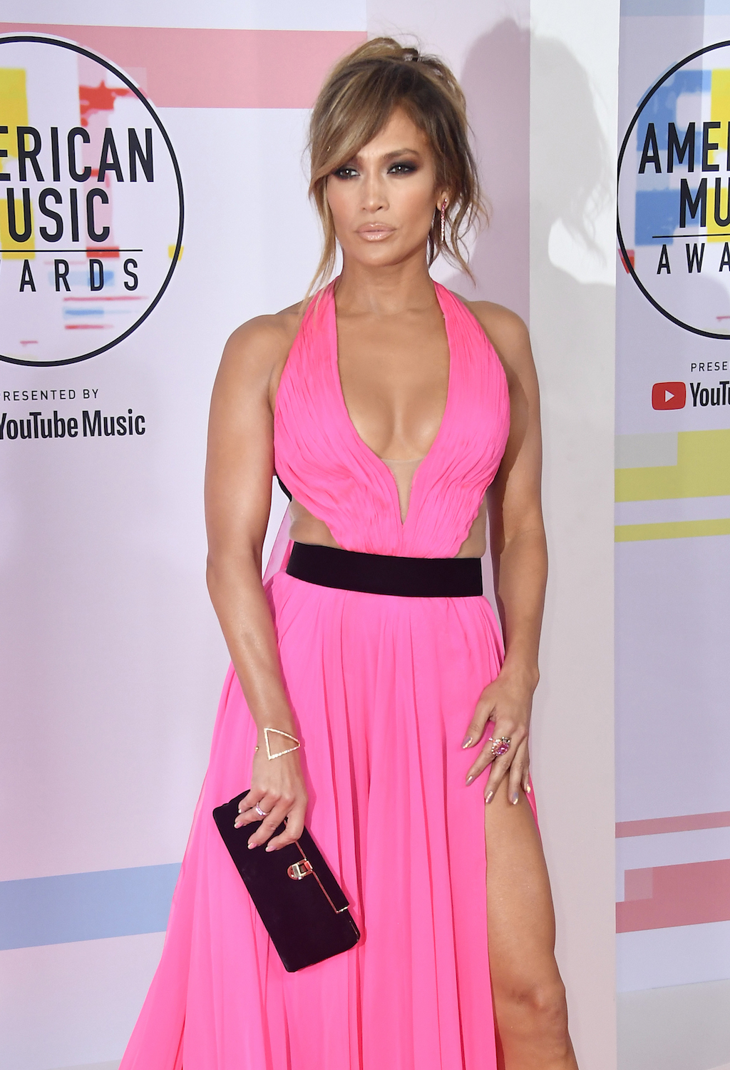 Jennifer Lopez attends the 2018 American Music Awards at Microsoft Theater on October 9, 2018 in Los Angeles, California.