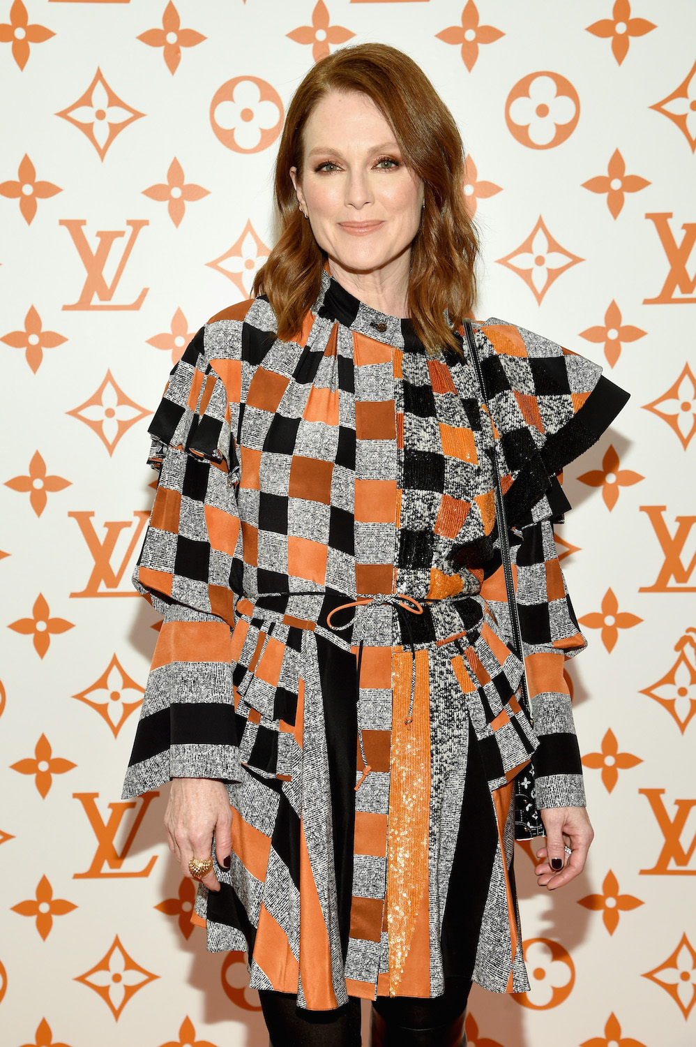 Julianne Moore attends the Louis Vuitton X Grace Coddington Event on October 25, 2018 in New York City.