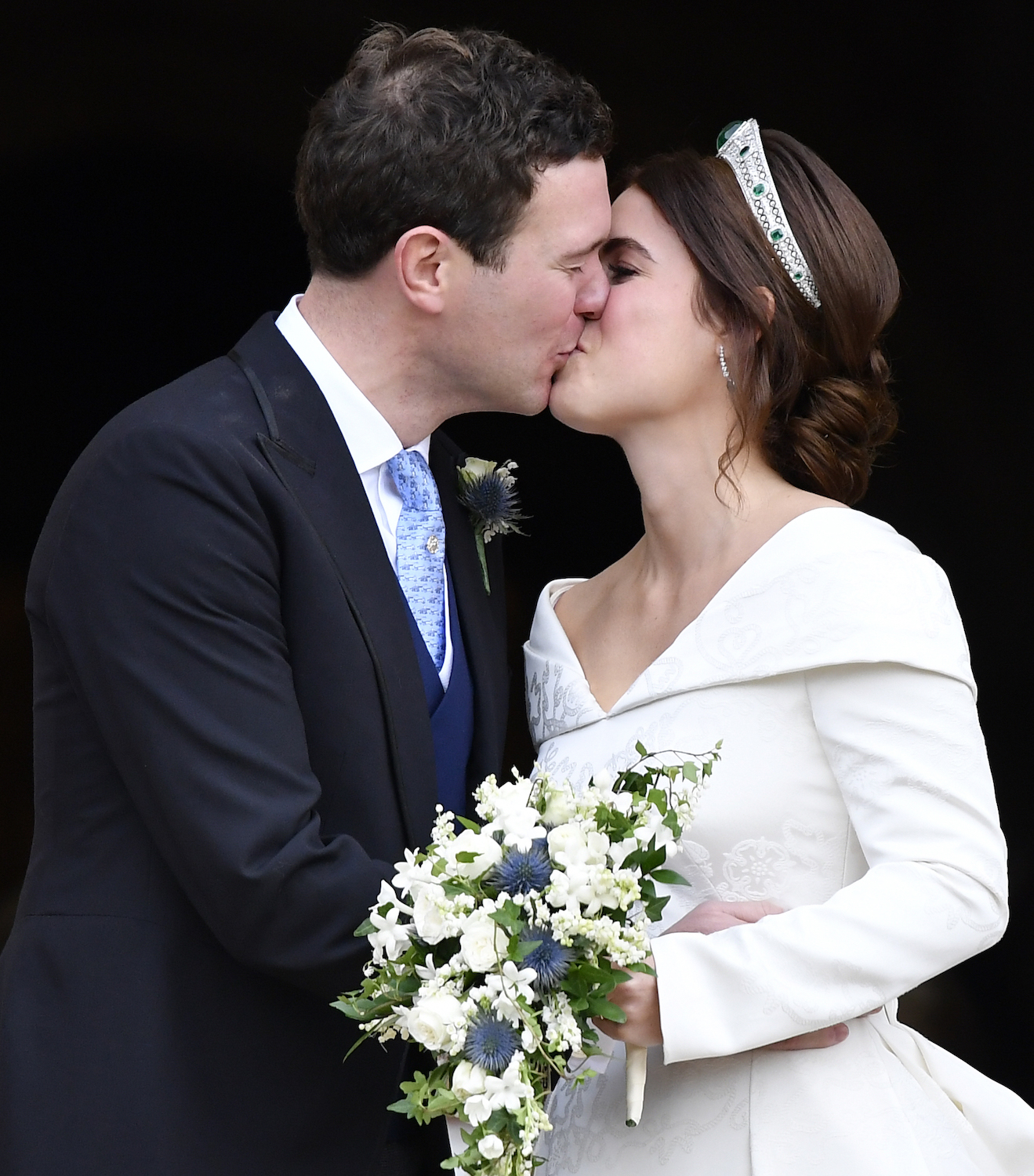 Princess Eugenie and Jack Brooksbank kiss after their wedding at St George's Chapel in Windsor Castle, Windsor, Britain October 12, 2018. REUTERS/Toby Melville