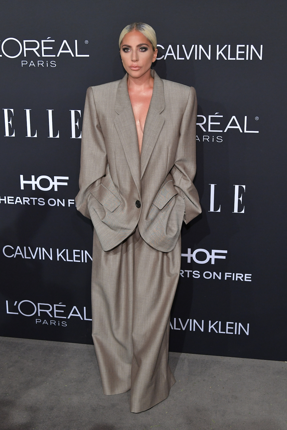LOS ANGELES, CALIFORNIA - OCTOBER 15: Lady Gaga attends ELLE's 25th Annual Women In Hollywood Celebration presented by L'Oreal Paris, Hearts On Fire and CALVIN KLEIN at Four Seasons Hotel Los Angeles at Beverly Hills on October 15, 2018 in Los Angeles, California. (Photo by Neilson Barnard/Getty Images for ELLE Magazine)