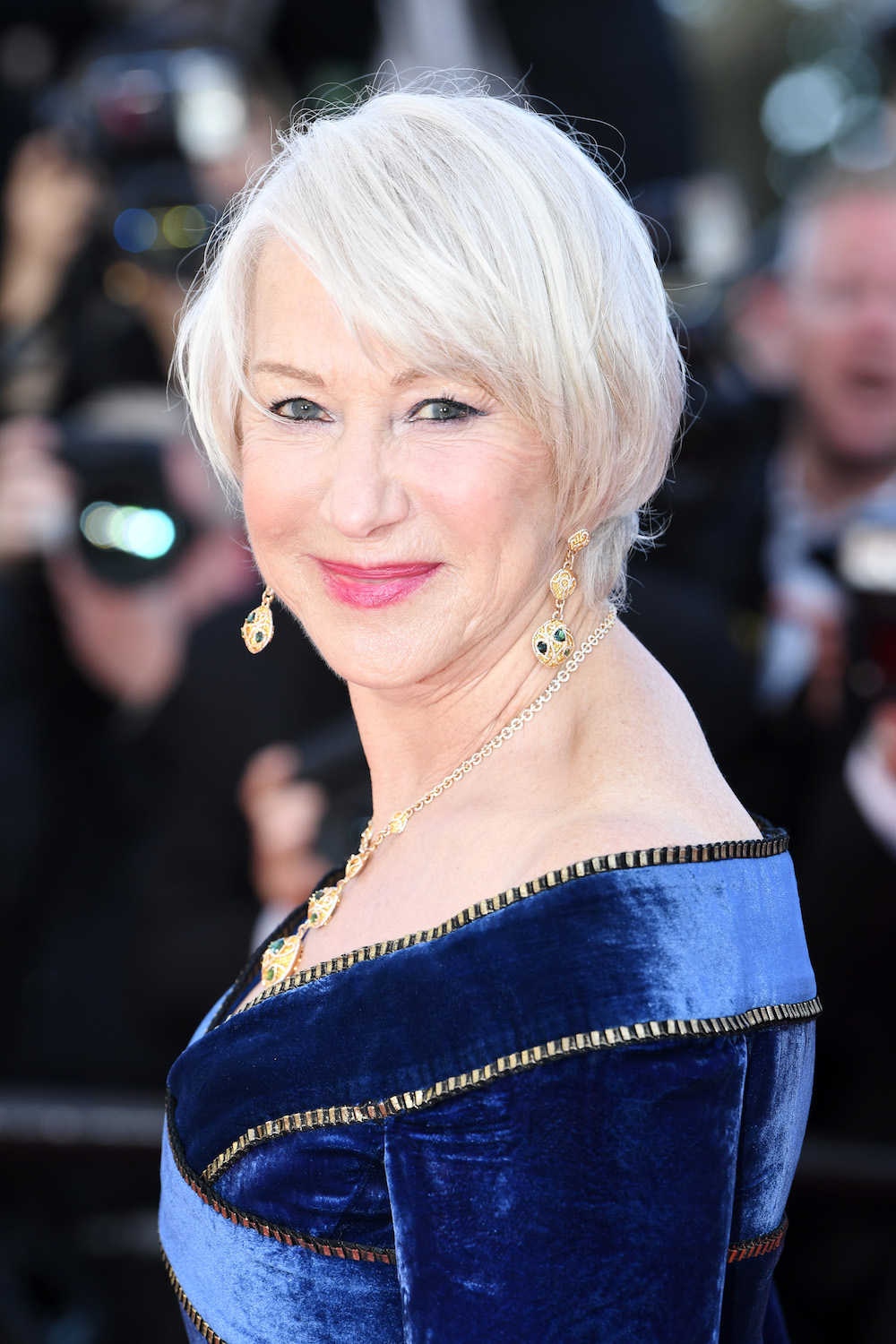 "Helen Mirren attends the screening of ""Girls Of The Sun (Les Filles Du Soleil)"" during the 71st annual Cannes Film Festival at Palais des Festivals on May 12, 2018 in Cannes, France."