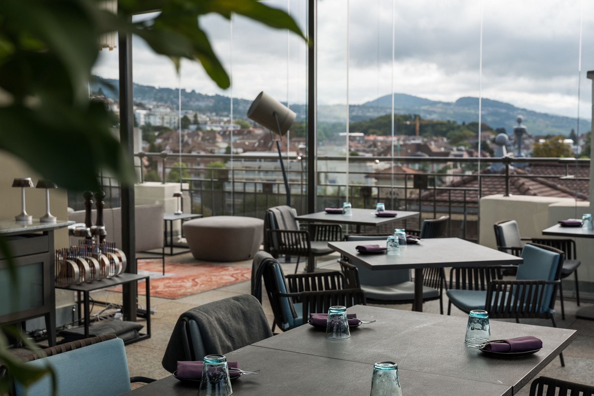 SkyLounge at royal savoy hotel lausanne