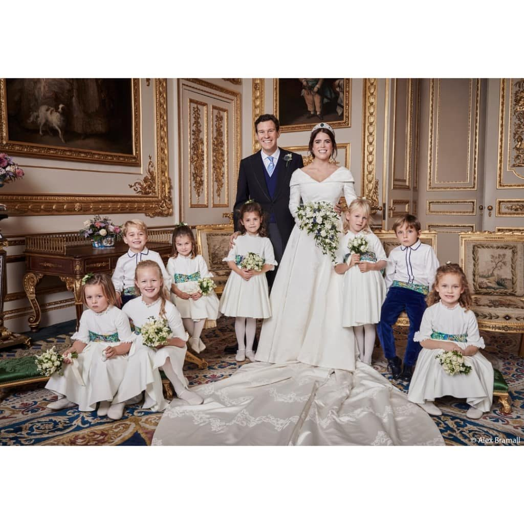 Princess Eugenie, Wearing Peter Pilotto, Weds Jack Brooksbank