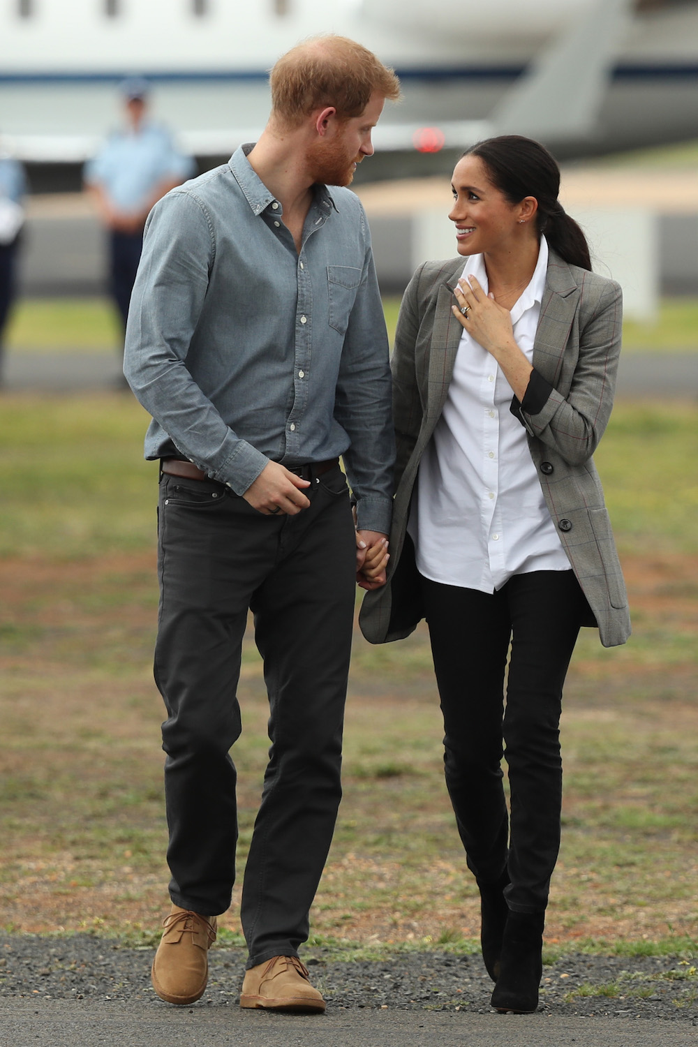Prince Harry, Duke of Sussex and Meghan, Duchess of Sussex attend XXX on October 17, 2018 in Dubbo, Australia. The Duke and Duchess of Sussex are on their official 16-day Autumn tour visiting cities in Australia, Fiji, Tonga and New Zealand.