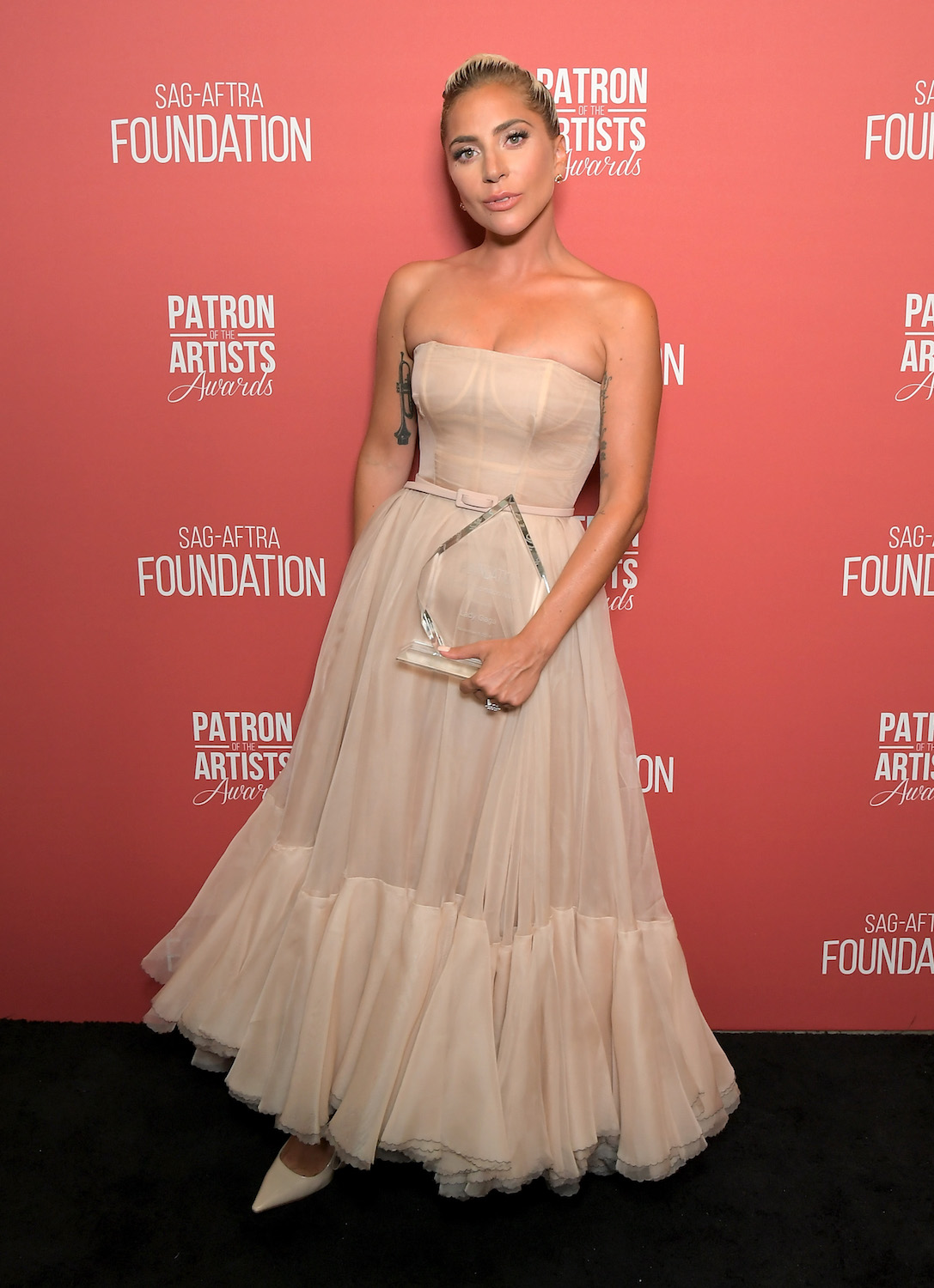 Lady Gaga attends the SAG-AFTRA Foundation's 3rd Annual Patron of the Artists Awards at the Wallis Annenberg Center for the Performing Arts on November 8, 2018 in Beverly Hills, California.