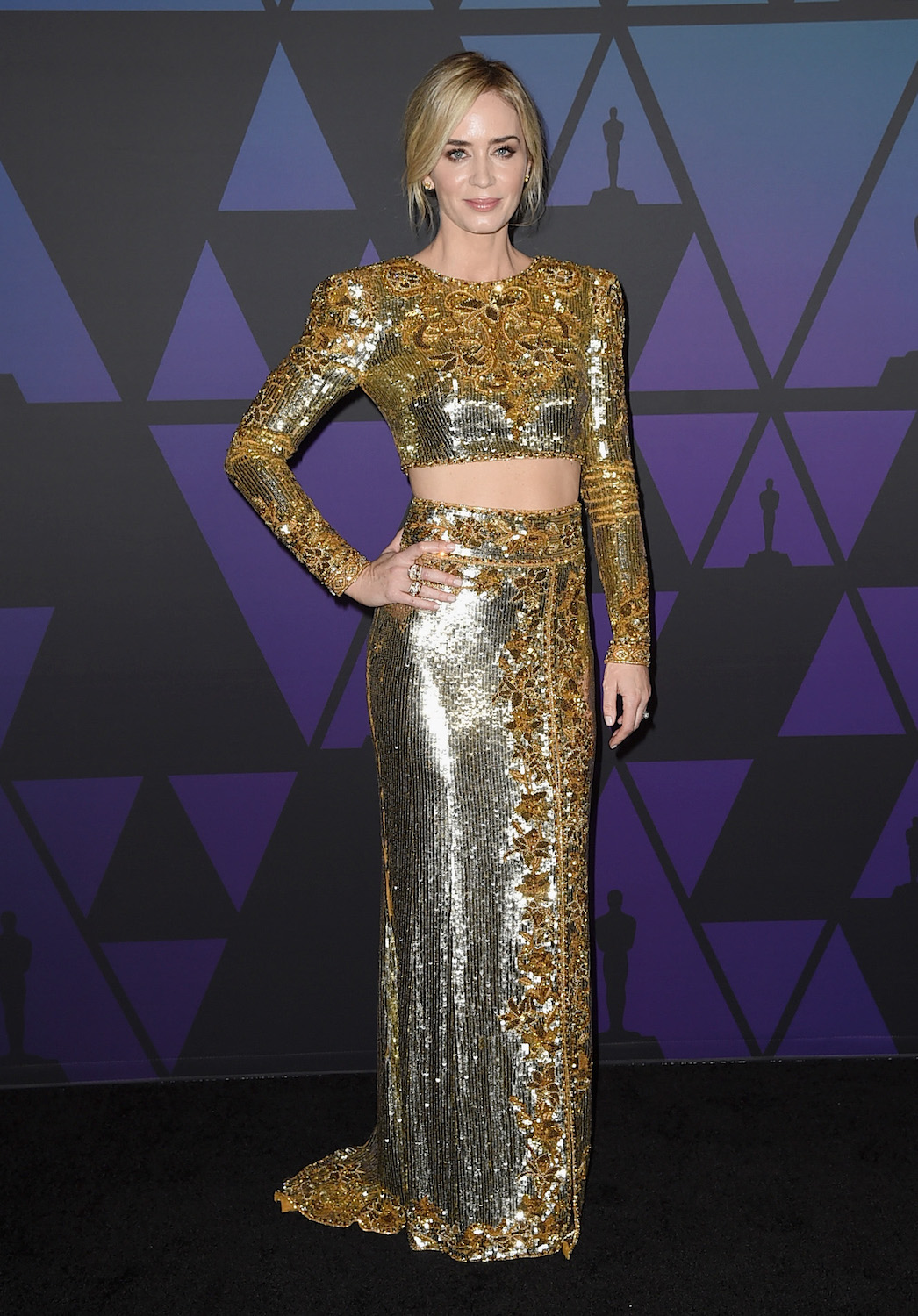 Emily Blunt attends the Academy of Motion Picture Arts and Sciences