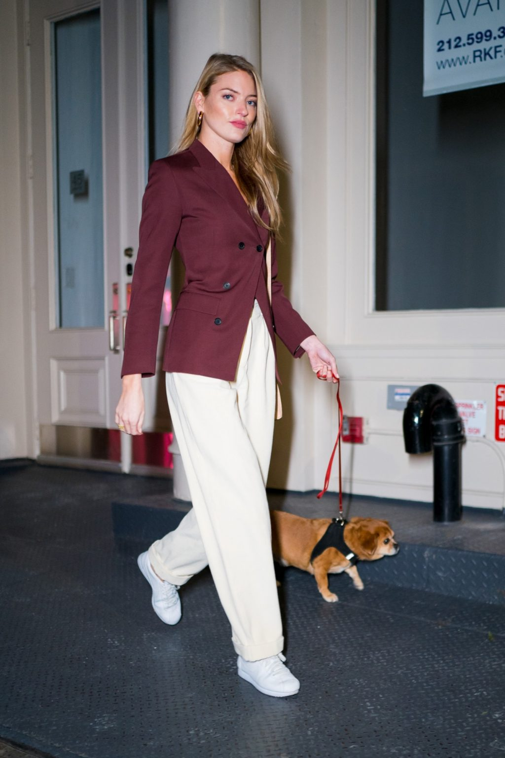 Martha Hunt Turns Dog Walking into a Catwalk Moment