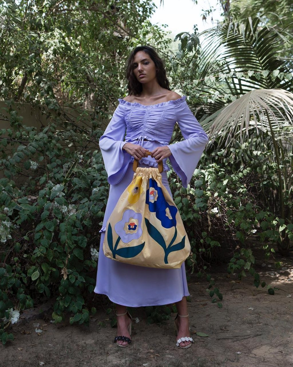 bedouin studios garden blue dress