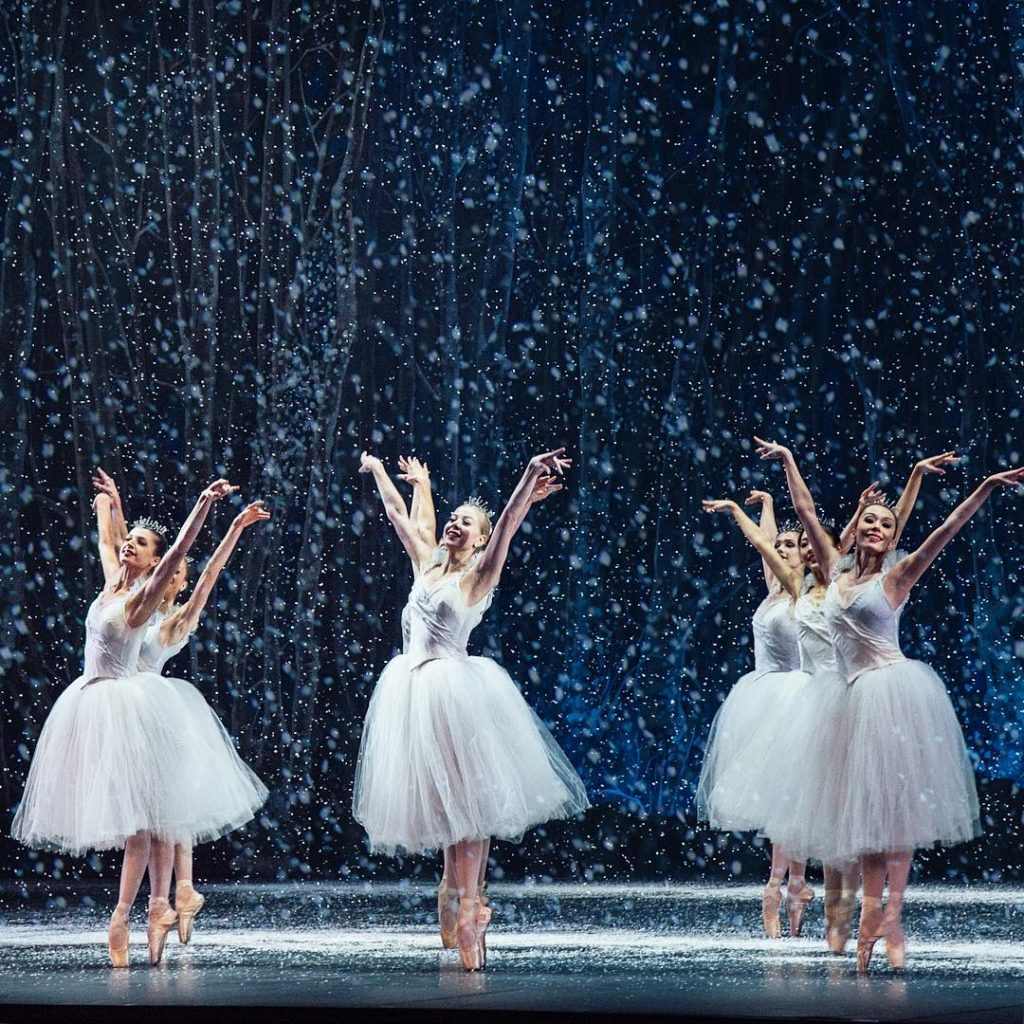 nutcracker ballet snow stage