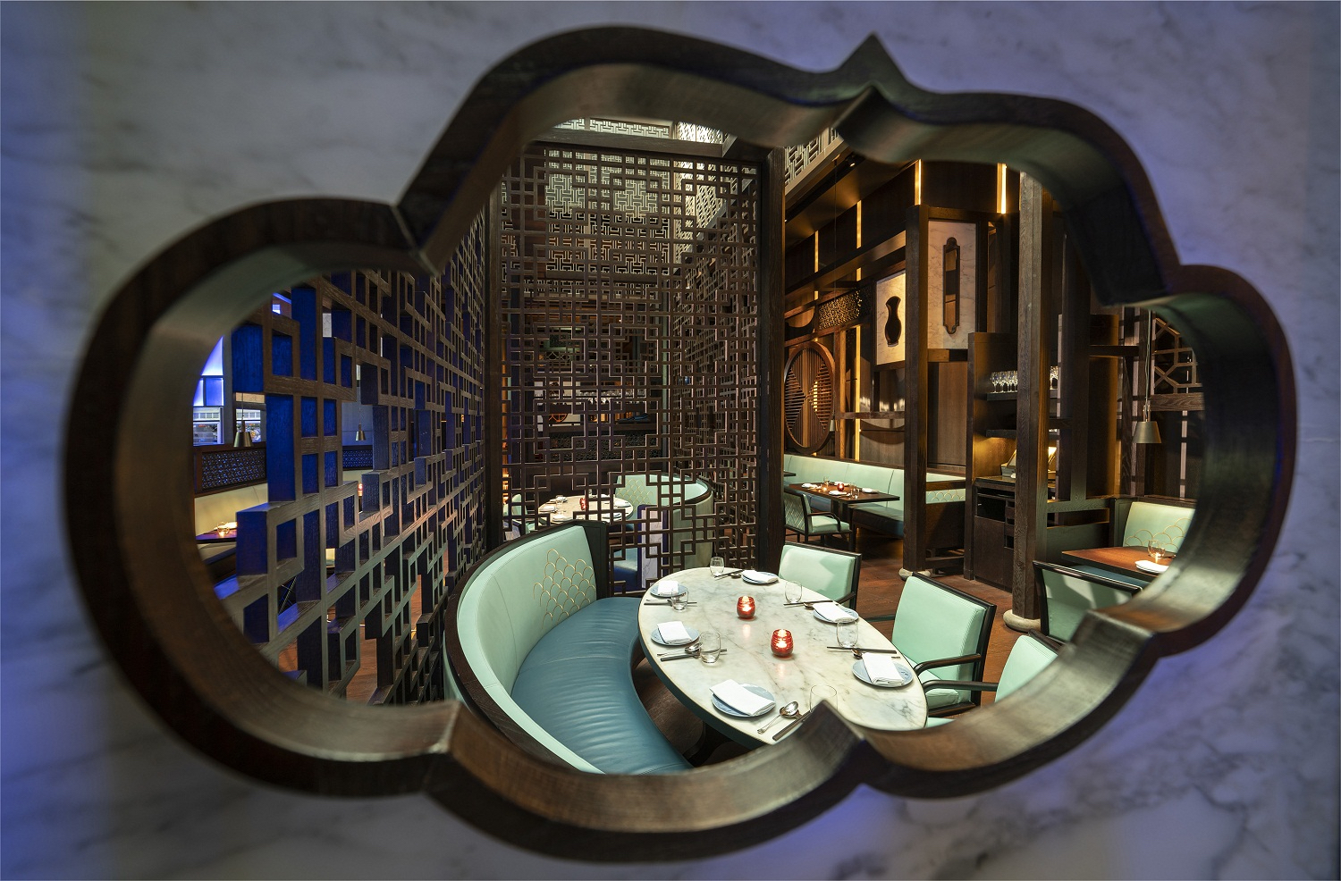 hakkasan atlantis the palm restaurant inteior