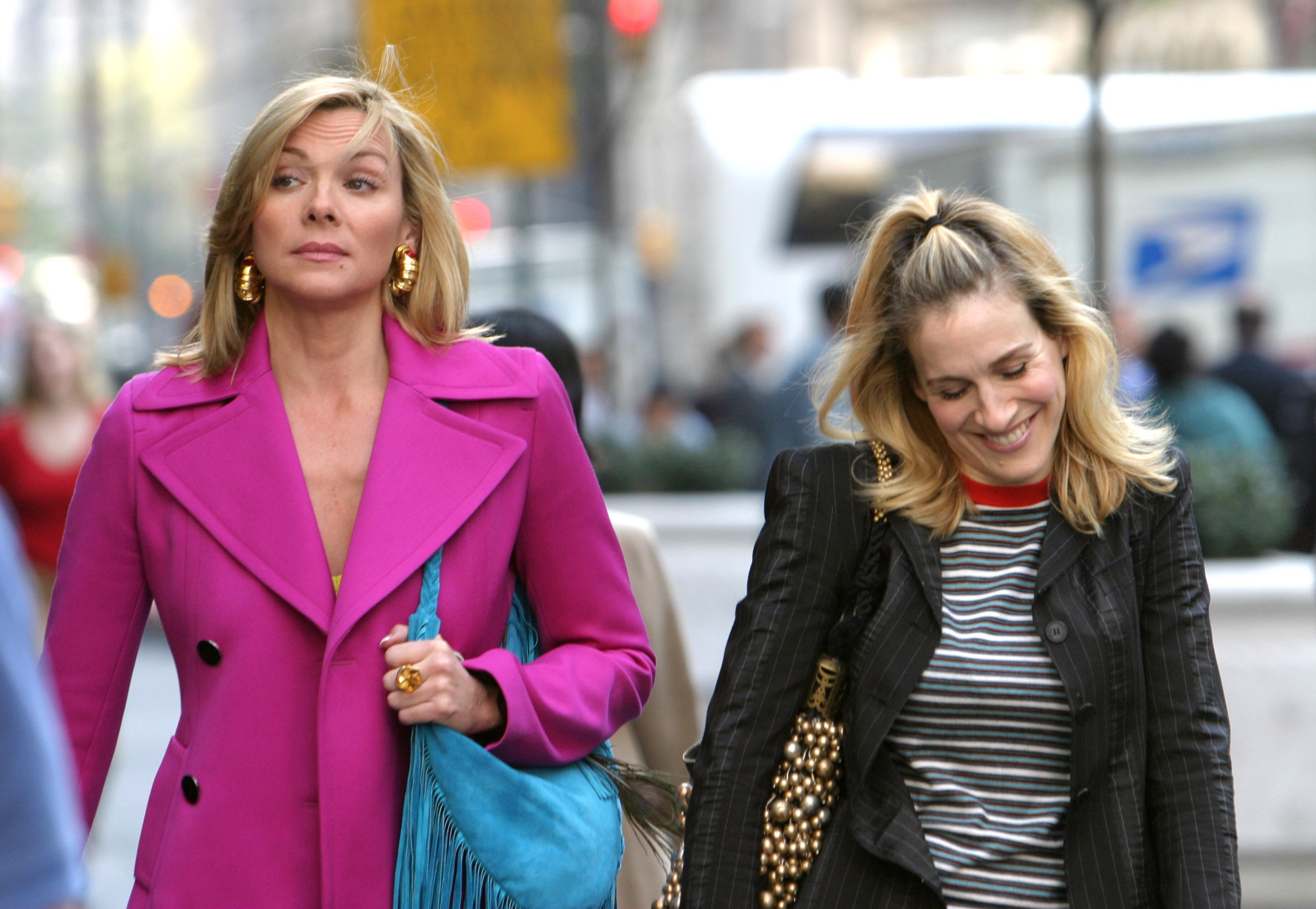 "Kim Cattrall and Sarah Jessica Parker On Location For ""Sex And The City"""
