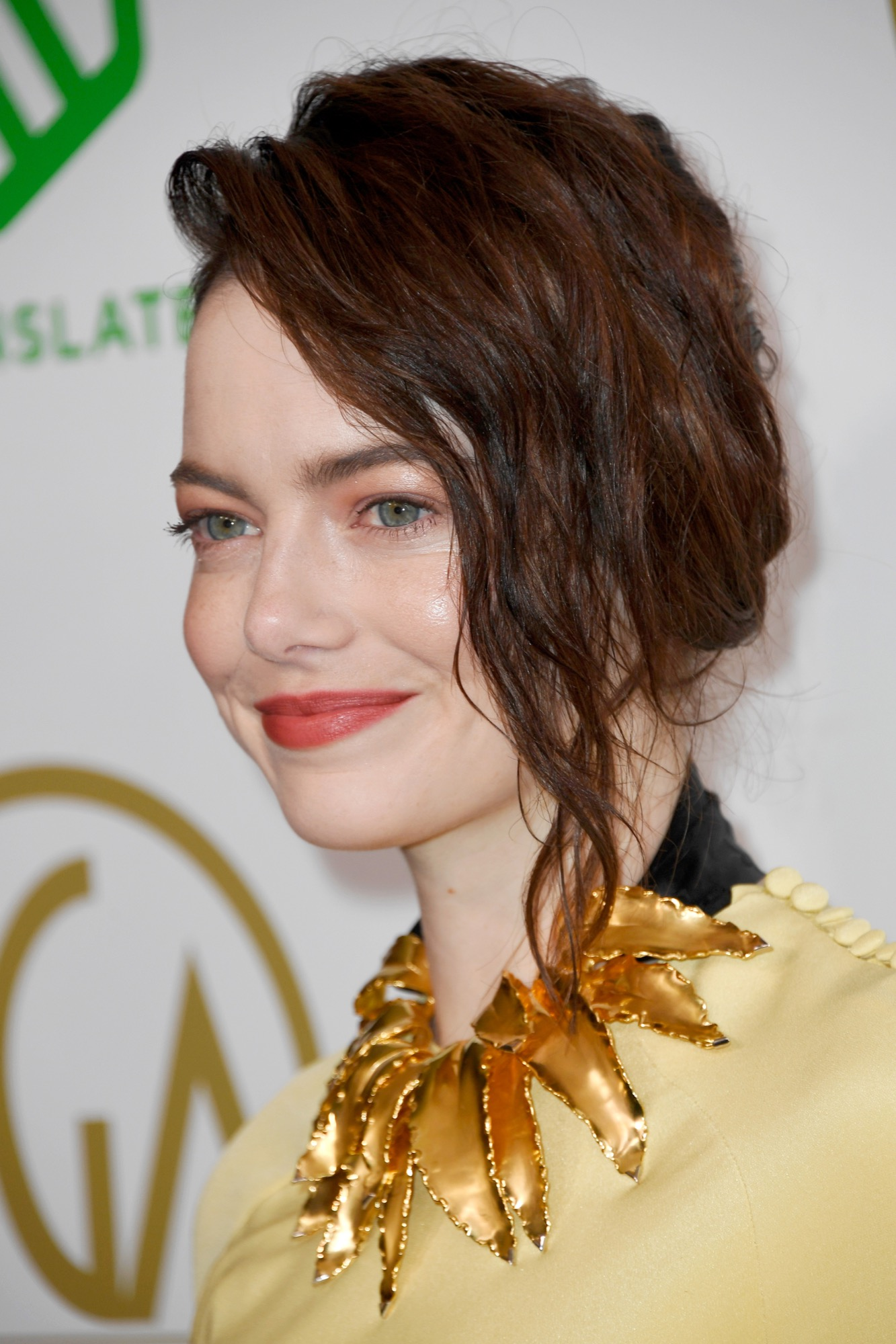 emma stone dark hair january 19 2018