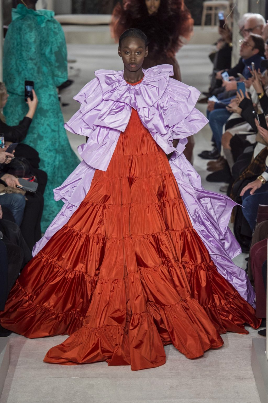 Valentino Champions Florals and Diverse Faces for Spring 2019 Couture