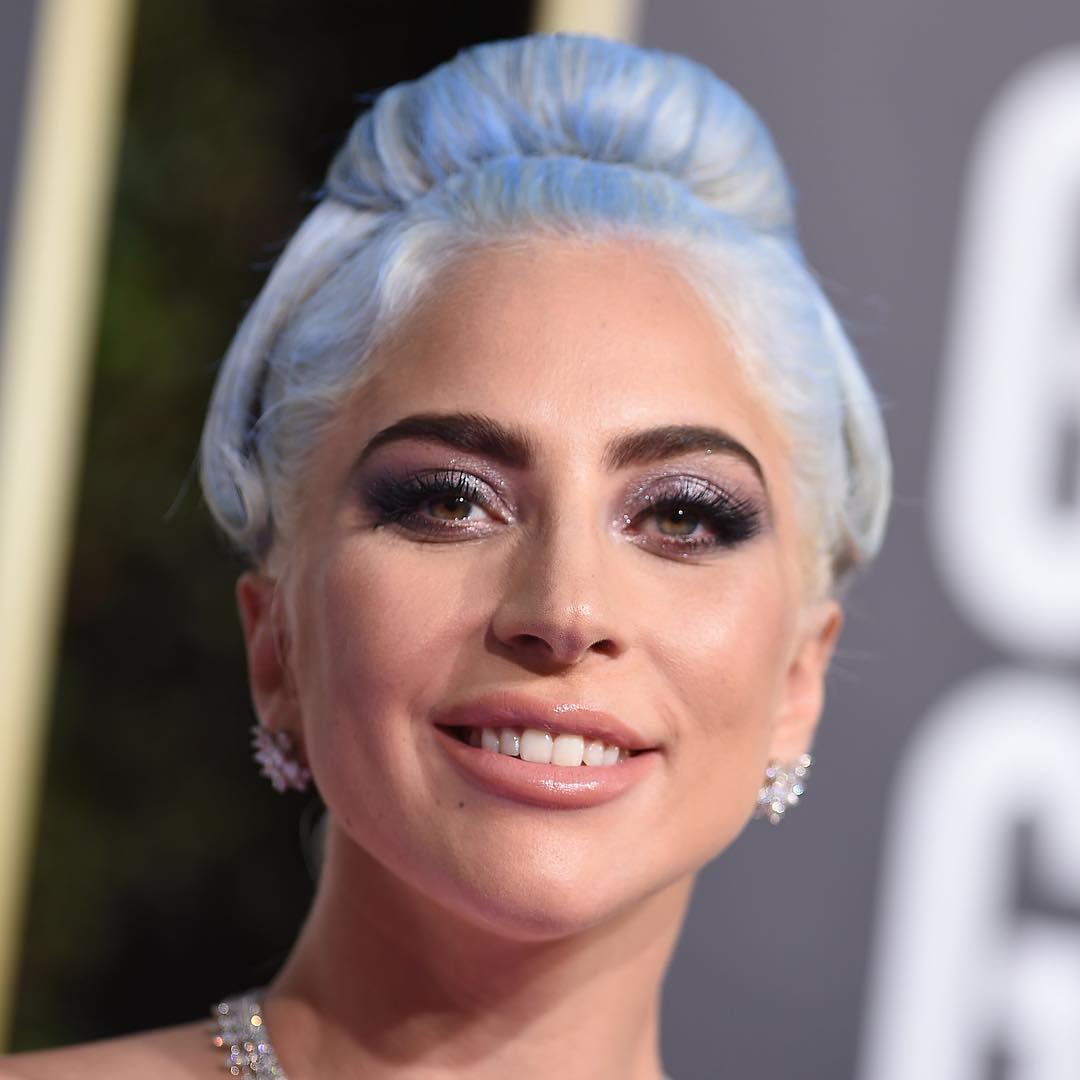 golden globes 2019 beauty lady gaga
