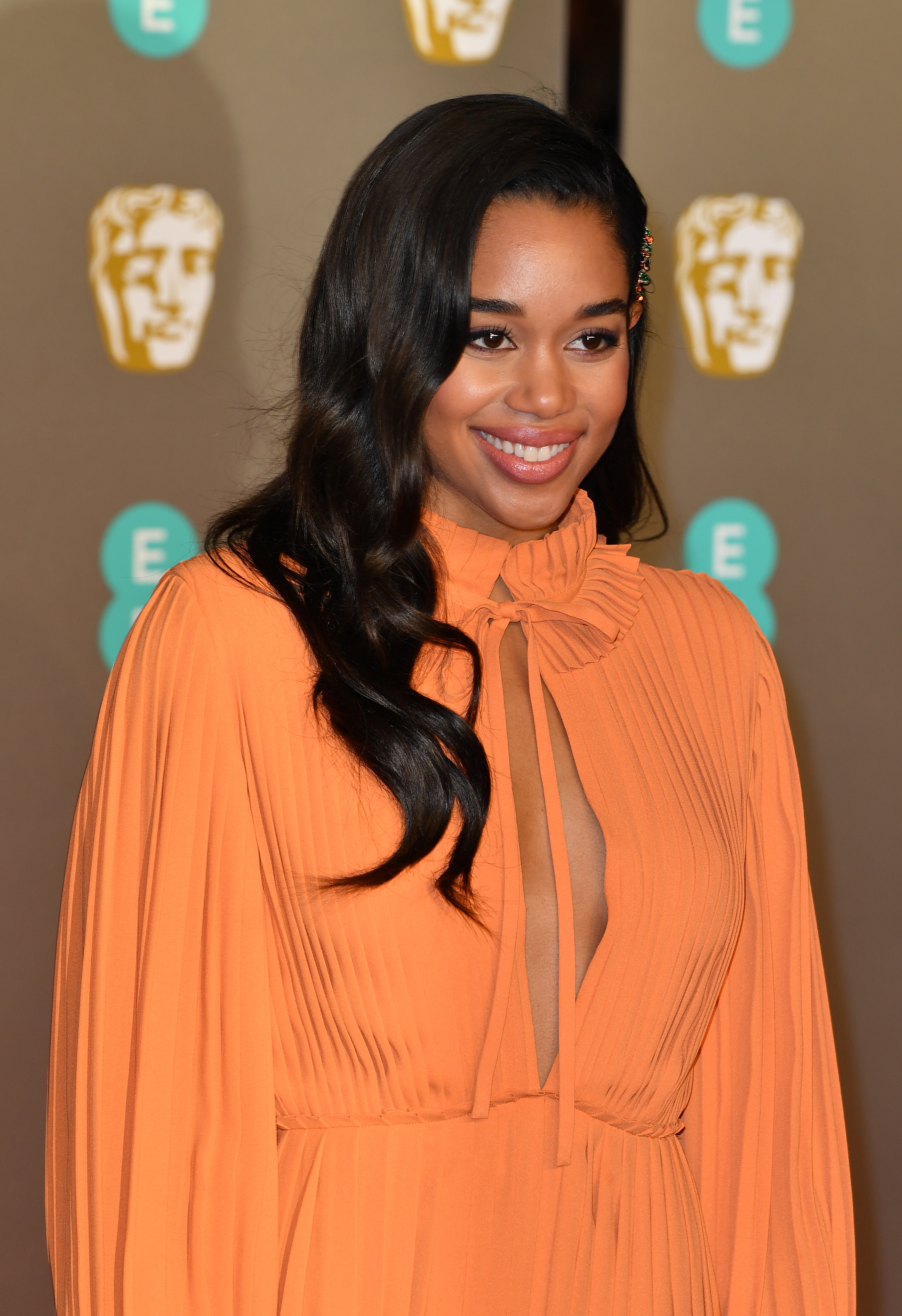 2019 BAFTAs beauty laura harrier