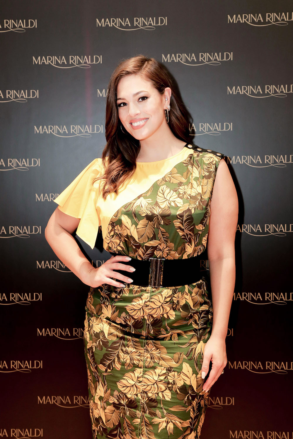 Ashley Graham at the opening of the new Marina Rinaldi flagship at Dubai Mall
