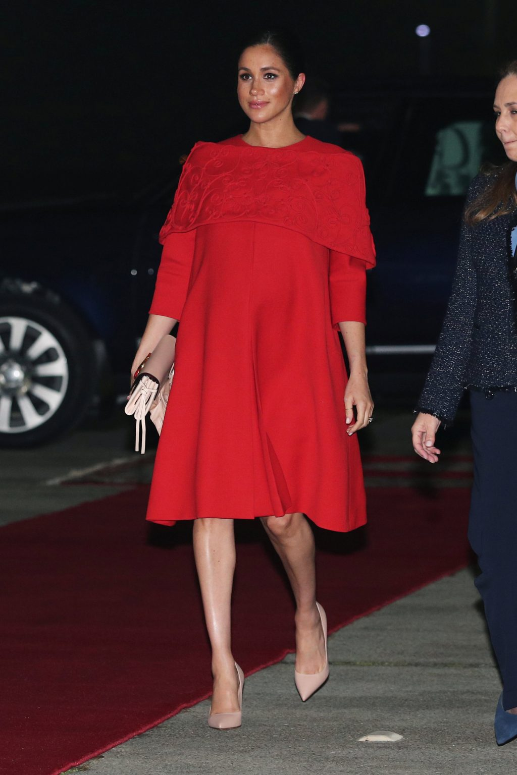 Meghan Markle Visits Morocco in a Dress Rife with Symbolism