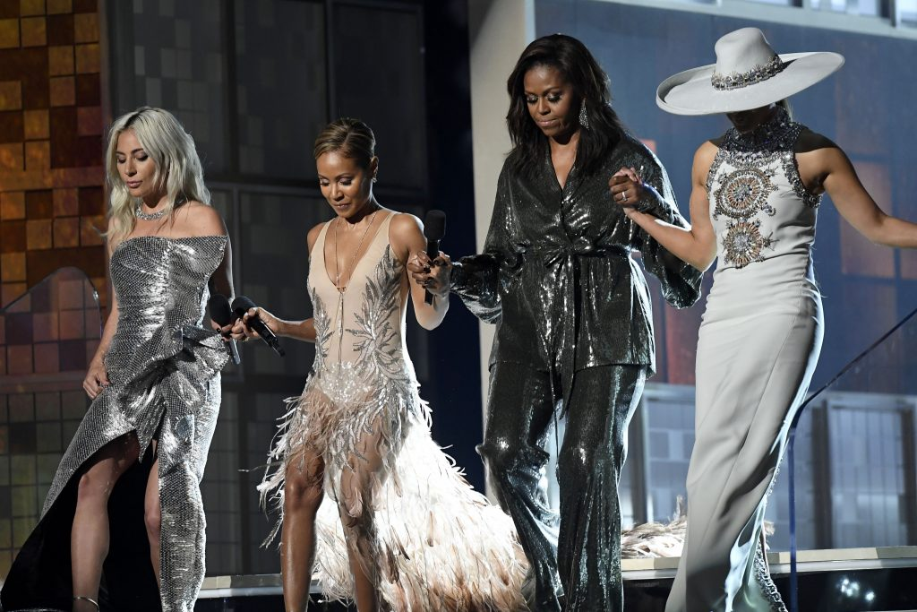 Lady Gaga, Michelle Obama, JLo, and Jada Are the Grammy Girl Squad We Need