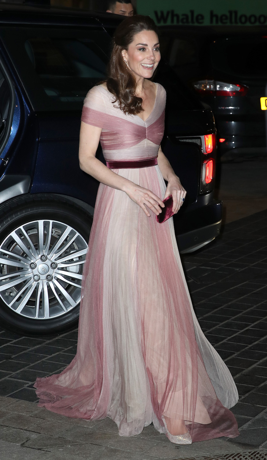 LONDON, ENGLAND - FEBRUARY 13: Catherine, Duchess of Cambridge, patron of 100 Women in Finance's Philanthropic Initiatives, attends a Gala Dinner in aid of 'Mentally Healthy Schools' at the Victoria and Albert Museum on February 13, 2019 in London, England. (Photo by Chris Jackson - WPA Pool/Getty Images)