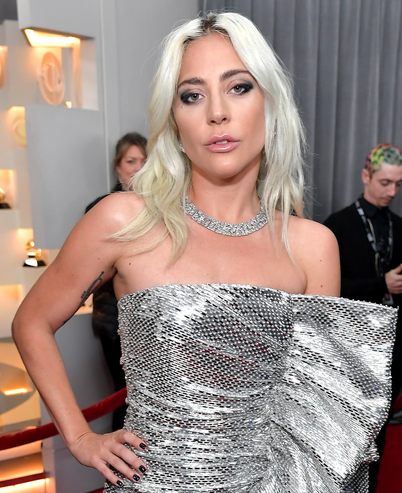 Grammys 2019 Beauty Lady Gaga