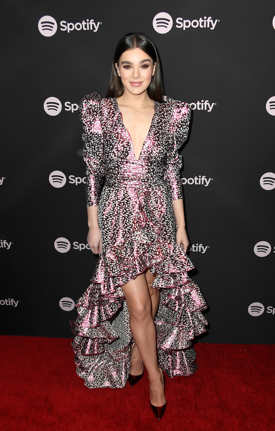 "Hailee Steinfeld attends Spotify ""Best New Artist 2019"" event at Hammer Museum on February 7, 2019 in Los Angeles, California."