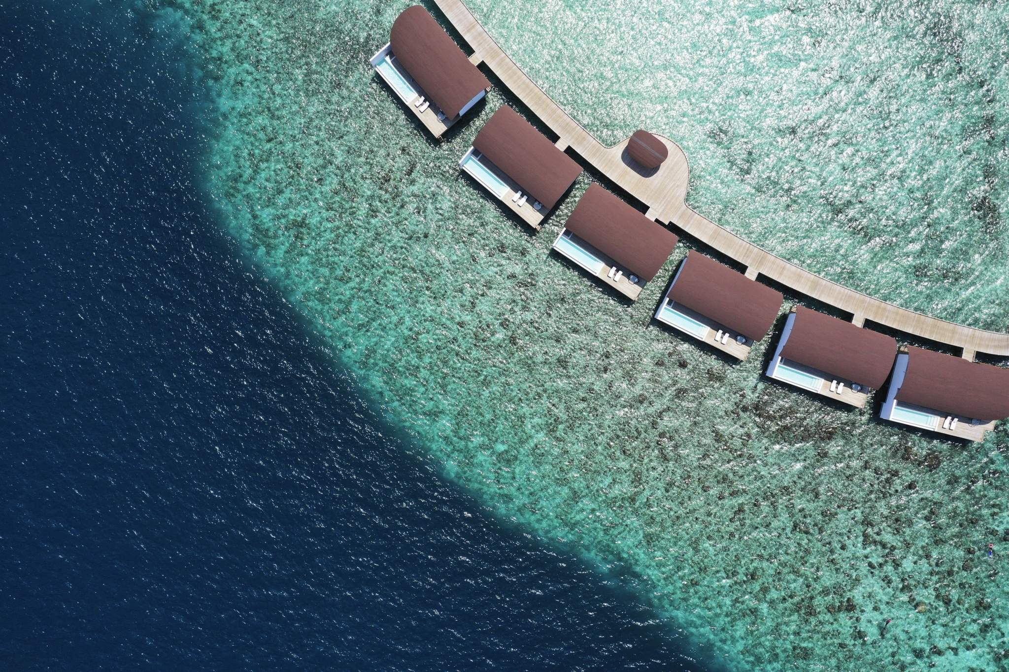 Westin Maldives Aerial view