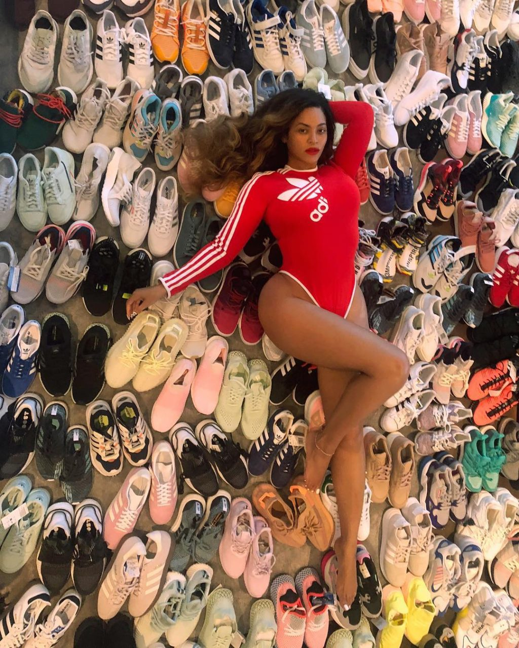 We Know Why Beyoncé Was Posing with All Those Shoes
