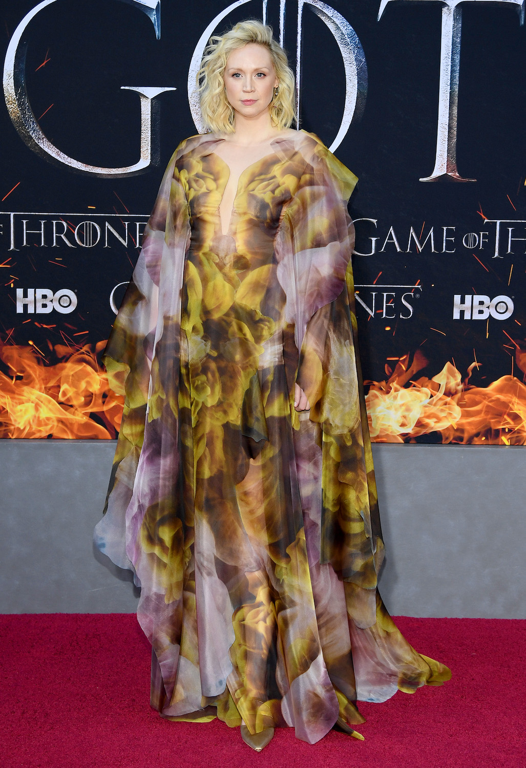 "NEW YORK, NEW YORK - APRIL 03: Gwendoline Christie attends the ""Game Of Thrones"" Season 8 Premiere on April 03, 2019 in New York City. (Photo by Dimitrios Kambouris/Getty Images)"