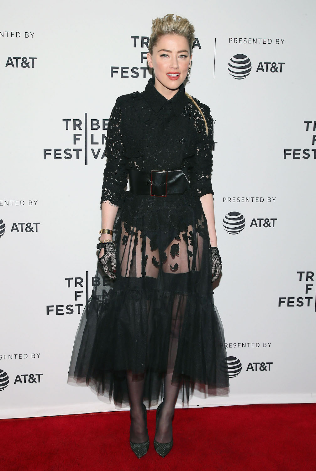 "NEW YORK, NEW YORK - APRIL 27: Actress Amber Heard attends ""Gully"" screening at 2019 Tribeca Film Festival at SVA Theater on April 27, 2019 in New York City. (Photo by Astrid Stawiarz/Getty Images for Tribeca Film Festival)"