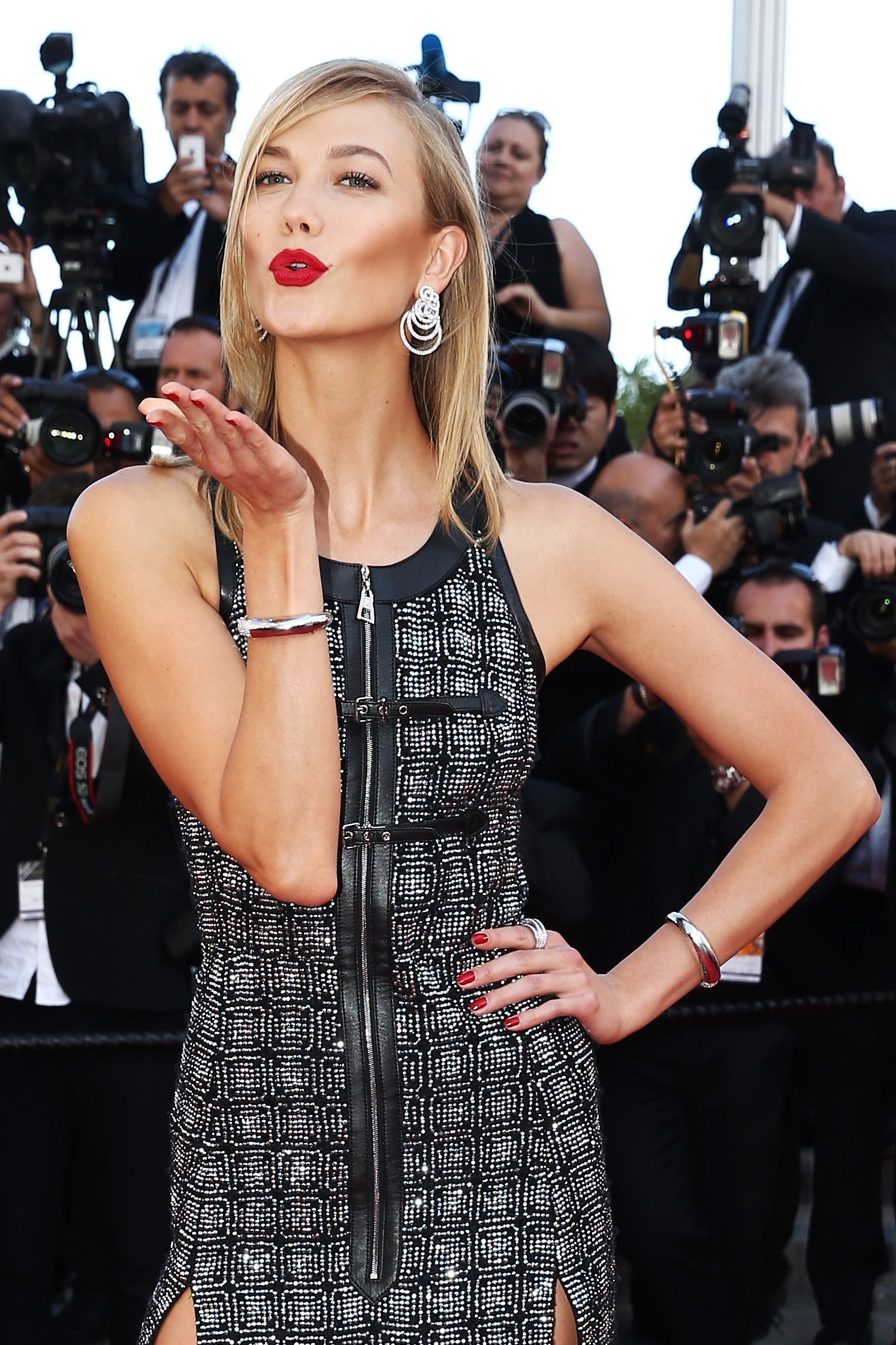 "Karlie Kloss attends the Premiere of ""Youth"" during the 68th annual Cannes Film Festival on May 20, 2015 in Cannes, France."