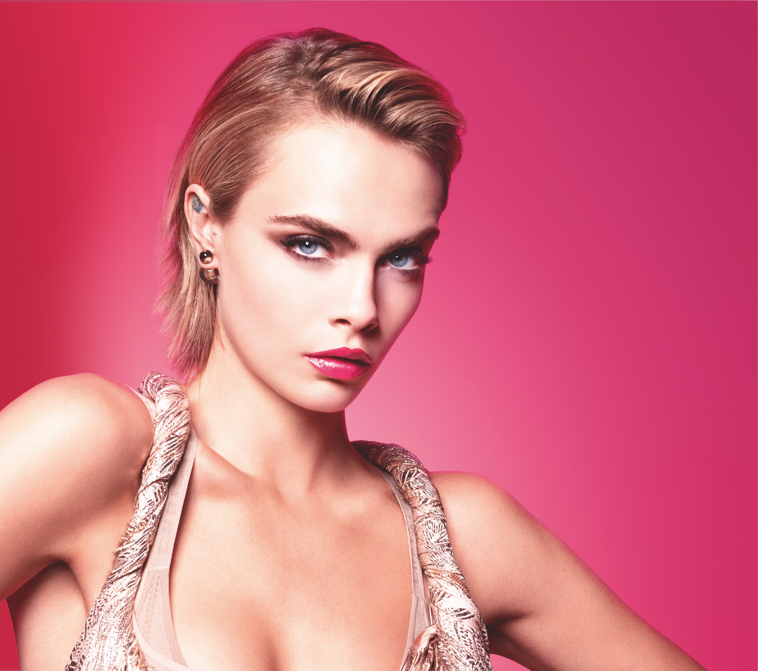Cara Delevingne Dior Addict Stellar Shine lipstick collection