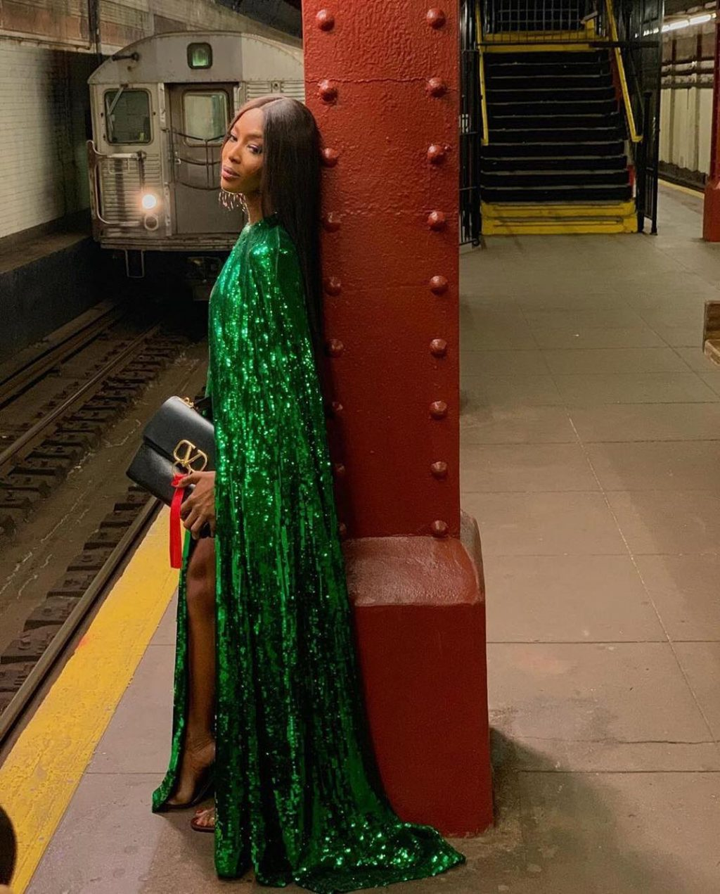 Take the Subway, but Make It Fashion Like This Supermodel