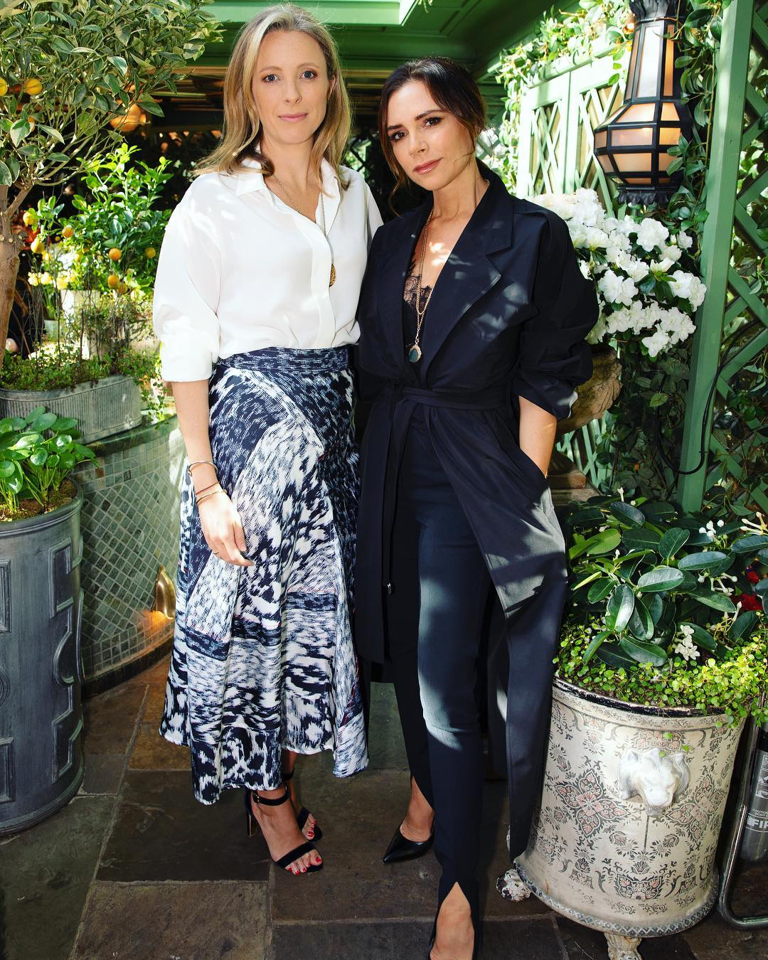 Stephanie Phair and Victoria Beckham