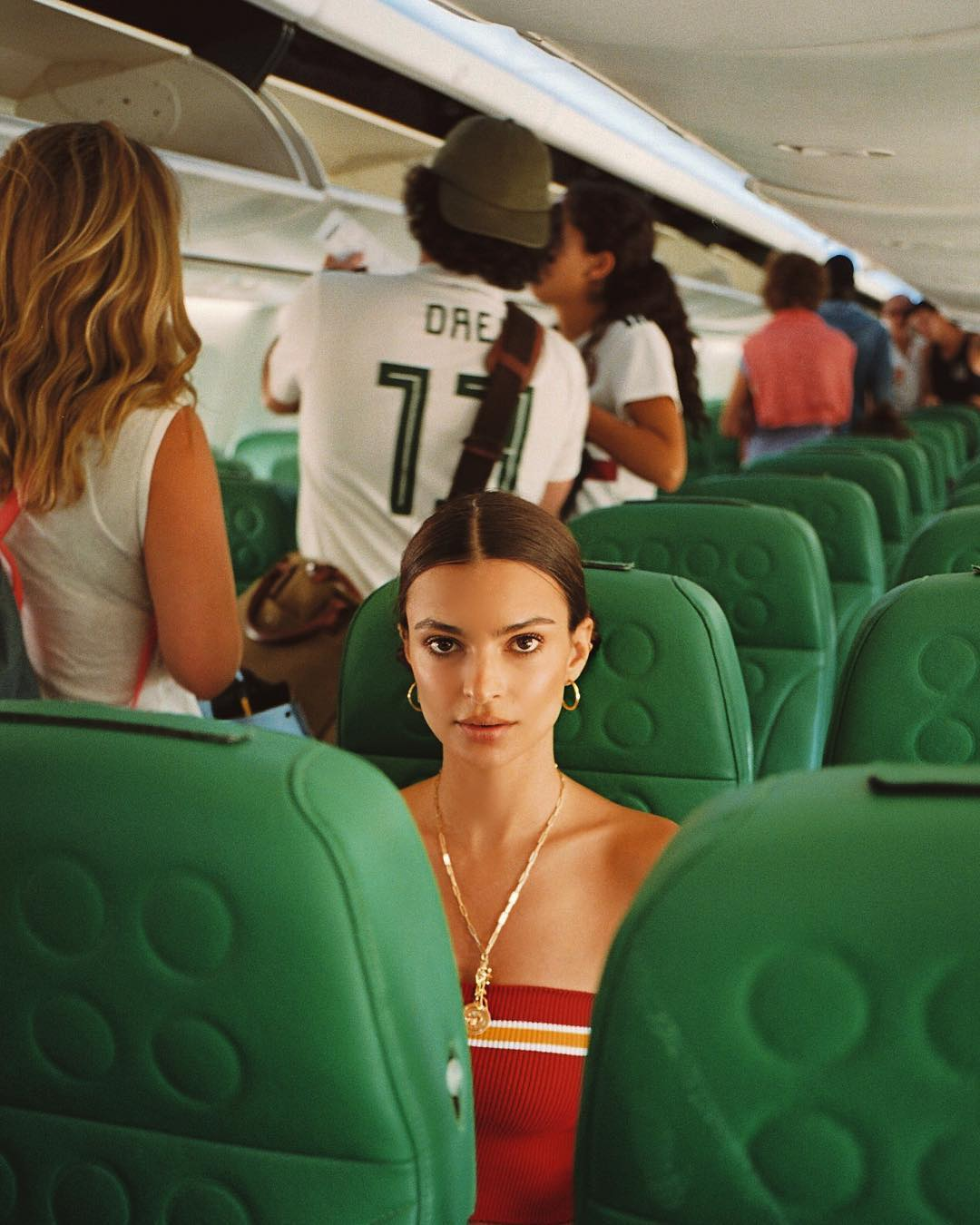 airplane in flight beauty tips